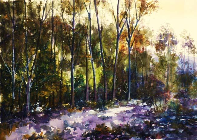 El Bosque. Acuarela de Juan Ramón Ávalos