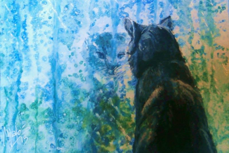 acuarela-juan-ramon-avalos-lluvia-y-gato-med-17-x-12-cms