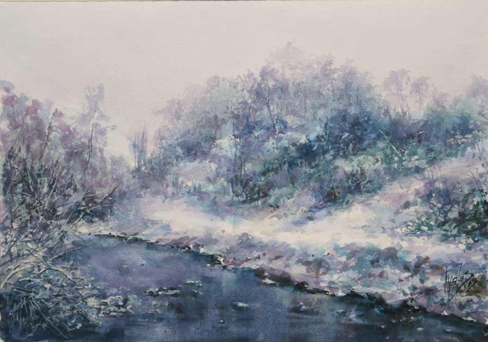 acuarela-juan-ramon-avalos-nieves-de-invierno