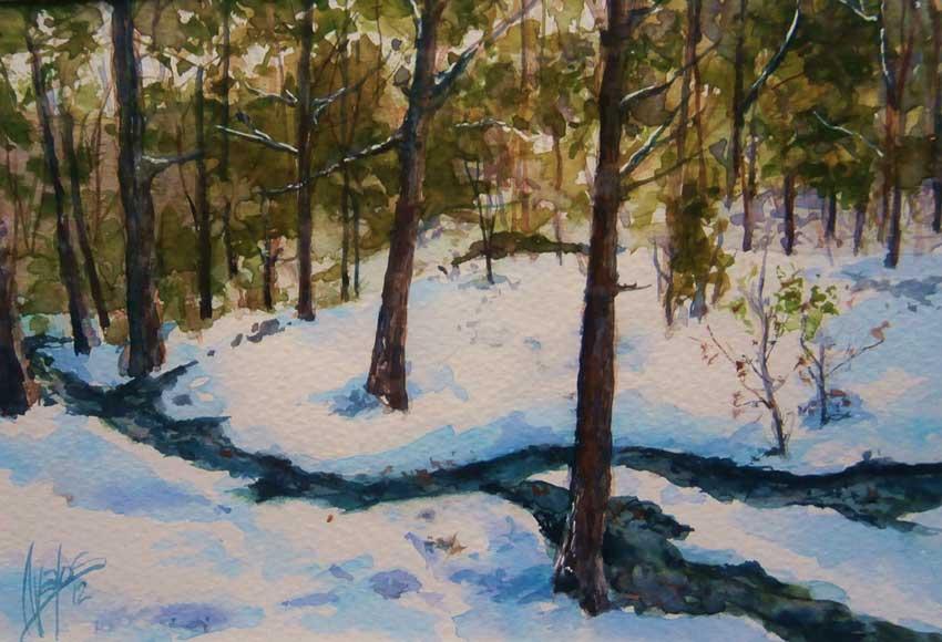 acuarela-juan-ramon-avalos-primeras-nieves-12-x-17-cms