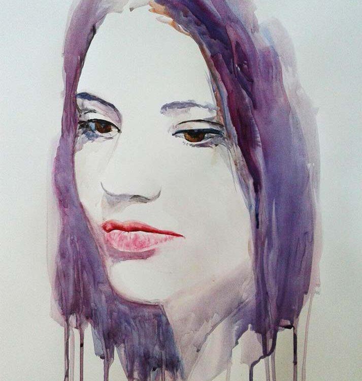 acuarela-juan-ramon-avalos-retrato-de-maria-munoz