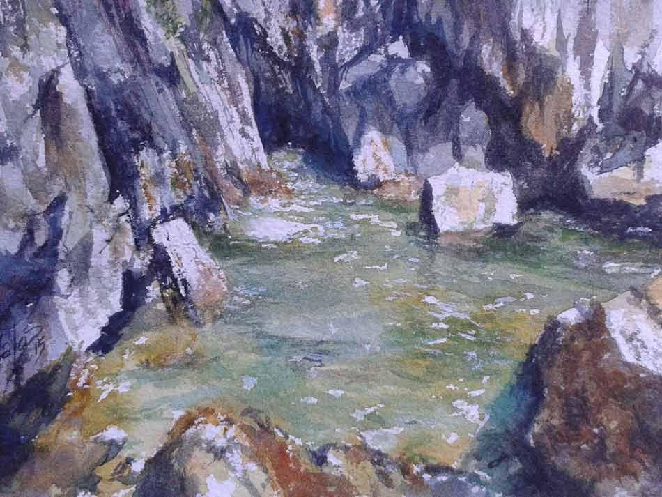acuarela-juan-ramon-avalos-agua-entre-rocas