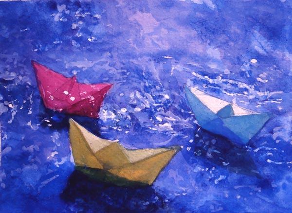 acuarela-juan-ramon-avalos-barcos-de-papel