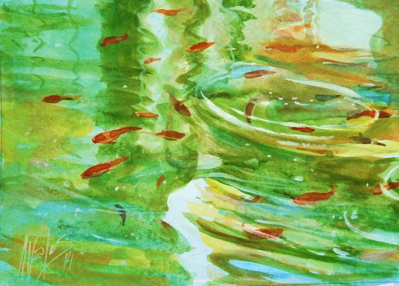 acuarela-juan-ramon-avalos-mis-peces-de-colores-1