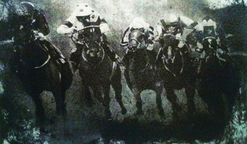 Grabado de Juan Ramón Ávalos. Carreras