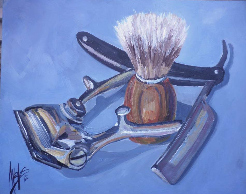 oleo-juan-ramon-avalos-el-barbero