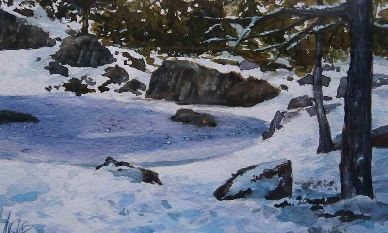 acuarela-juan-ramon-avalos-laguna-helada-12-x-17-cms