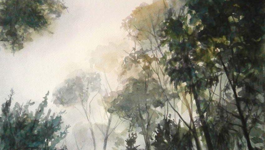 acuarela-juan-ramon-avalos-el-despertar-del-bosque