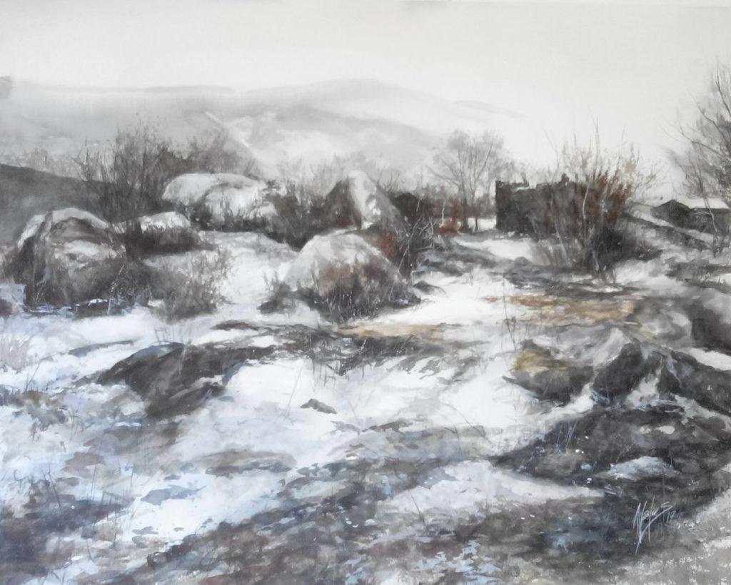 Acuarela- Hielo negro-Juan Ramon Avalos
